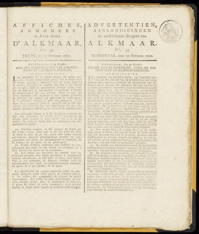 Alkmaarsche Courant 1812-10-29