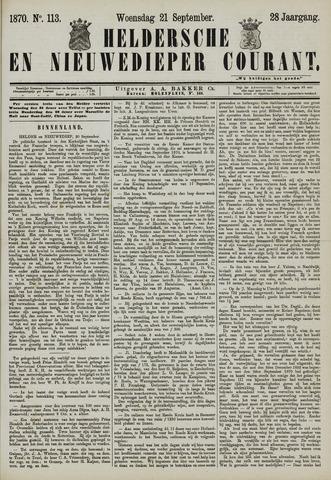 Heldersche en Nieuwedieper Courant 1870-09-21