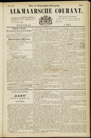 Alkmaarsche Courant 1892-05-04