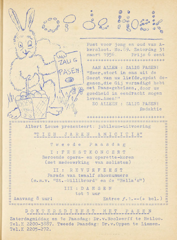 Op De Hoek, weekblad voor Akersloot 1956-03-31