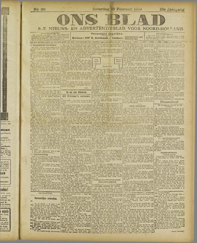 Ons Blad : katholiek nieuwsblad voor N-H 1919-02-16