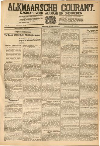 Alkmaarsche Courant 1934-02-12