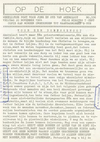 Op De Hoek, weekblad voor Akersloot 1964-11-20