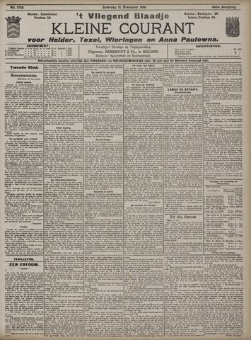 Vliegend blaadje : nieuws- en advertentiebode voor Den Helder 1908-11-21