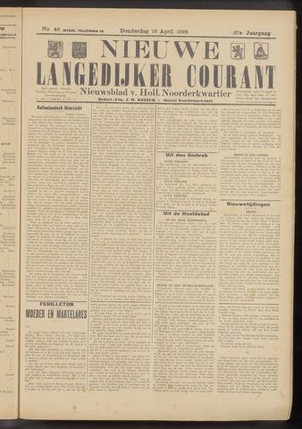 Nieuwe Langedijker Courant 1928-04-19