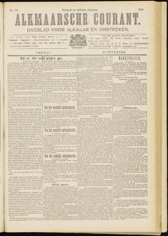 Alkmaarsche Courant 1914-11-27