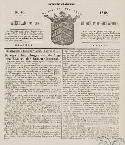 Weekblad van Den Helder en het Nieuwediep 1849-03-05