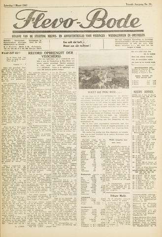 Flevo-bode: nieuwsblad voor Wieringen-Wieringermeer 1947-03-01