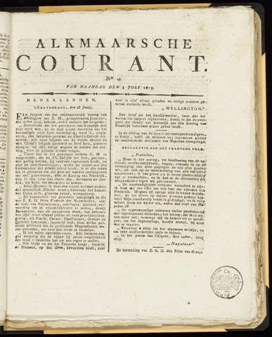 Alkmaarsche Courant 1815-07-03