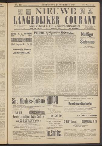 Nieuwe Langedijker Courant 1929-11-28