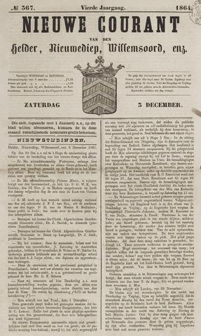 Nieuwe Courant van Den Helder 1864-12-03