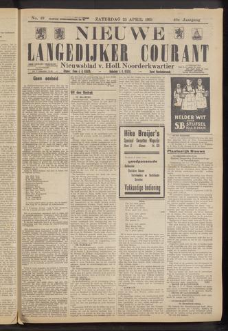 Nieuwe Langedijker Courant 1931-04-25