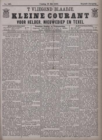 Vliegend blaadje : nieuws- en advertentiebode voor Den Helder 1881-05-24