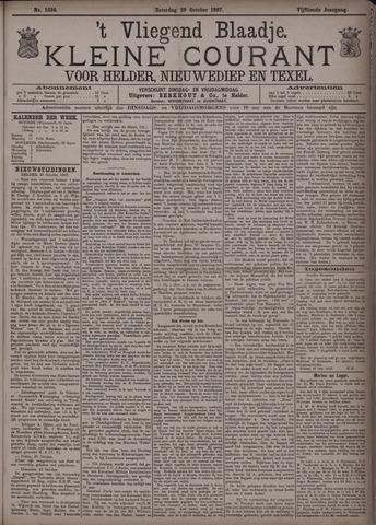 Vliegend blaadje : nieuws- en advertentiebode voor Den Helder 1887-10-29
