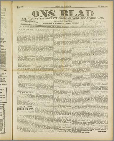 Ons Blad : katholiek nieuwsblad voor N-H 1920-07-16