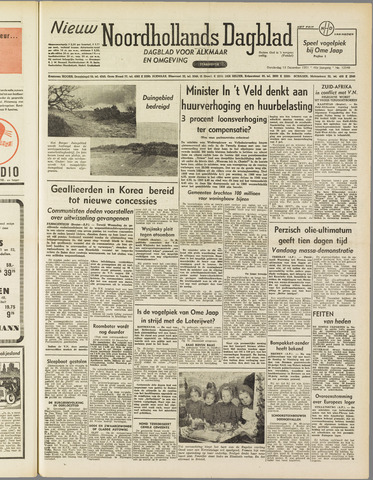 Nieuw Noordhollandsch Dagblad : voor Alkmaar en omgeving 1951-12-13