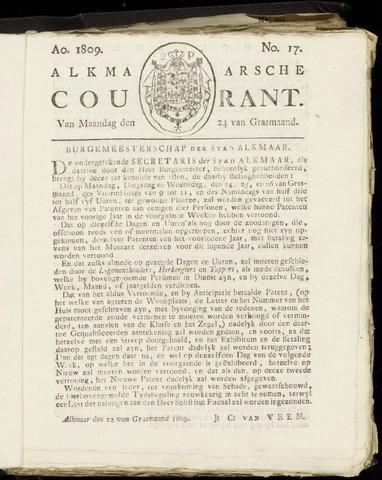 Alkmaarsche Courant 1809-04-24