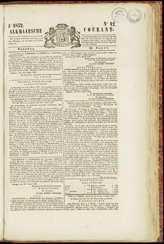 Alkmaarsche Courant 1852-03-22