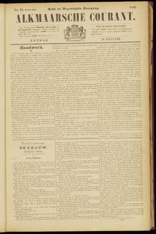 Alkmaarsche Courant 1896-01-26
