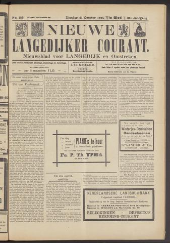 Nieuwe Langedijker Courant 1924-10-21