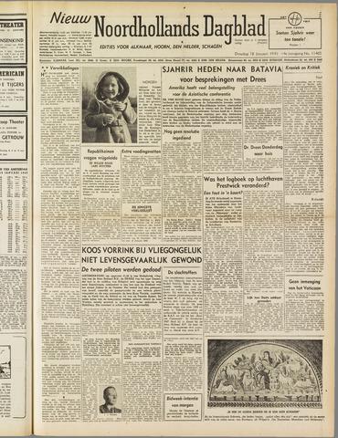 Nieuw Noordhollandsch Dagblad : voor Alkmaar en omgeving 1949-01-18
