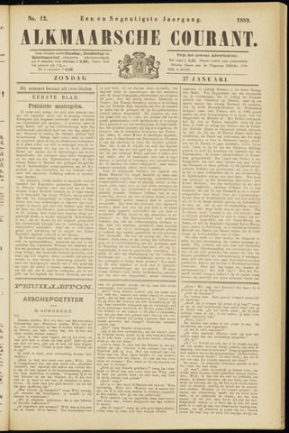 Alkmaarsche Courant 1889-01-27