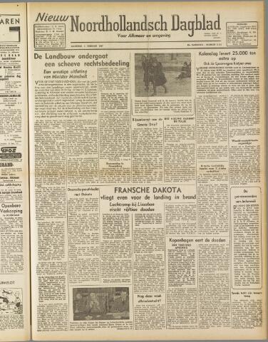 Nieuw Noordhollandsch Dagblad : voor Alkmaar en omgeving 1947-02-03