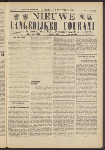 Nieuwe Langedijker Courant 1932-11-03
