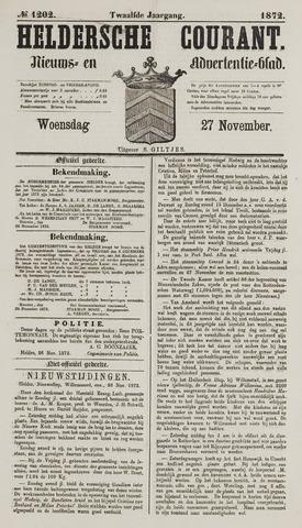 Heldersche Courant 1872-11-27