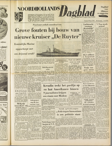 Noordhollands Dagblad : dagblad voor Alkmaar en omgeving 1953-03-27