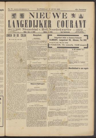 Nieuwe Langedijker Courant 1933-06-17