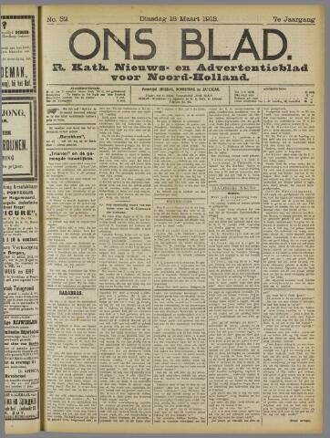 Ons Blad : katholiek nieuwsblad voor N-H 1913-03-18