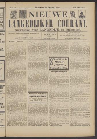 Nieuwe Langedijker Courant 1921-02-23