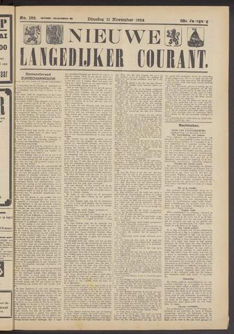 Nieuwe Langedijker Courant 1924-11-11