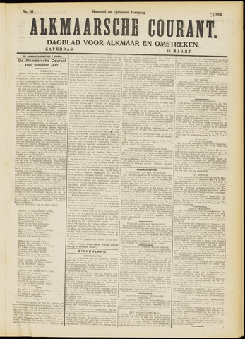Alkmaarsche Courant 1913-03-15