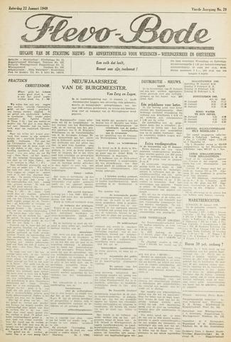 Flevo-bode: nieuwsblad voor Wieringen-Wieringermeer 1949-01-22