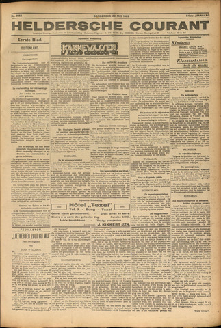 Heldersche Courant 1926-05-20
