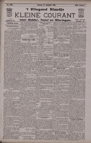 Vliegend blaadje : nieuws- en advertentiebode voor Den Helder 1900-09-22