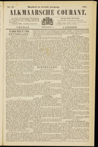 Alkmaarsche Courant 1905-08-04