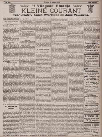 Vliegend blaadje : nieuws- en advertentiebode voor Den Helder 1903-02-28
