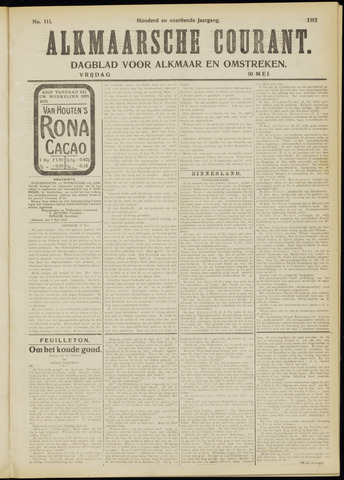 Alkmaarsche Courant 1912-05-10