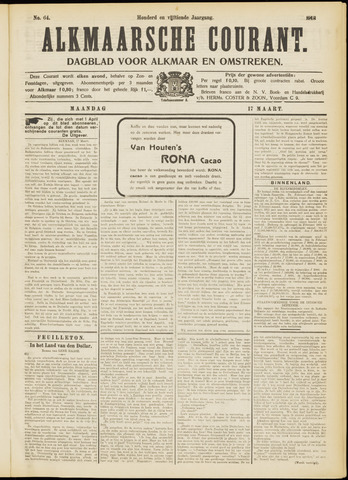 Alkmaarsche Courant 1913-03-17