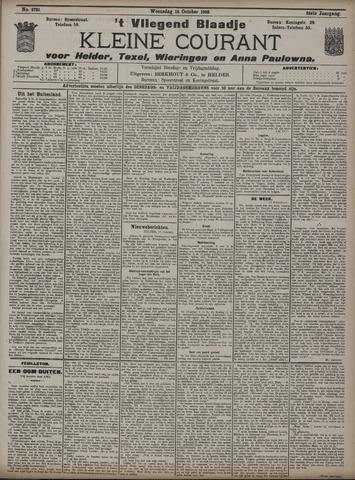 Vliegend blaadje : nieuws- en advertentiebode voor Den Helder 1908-10-14