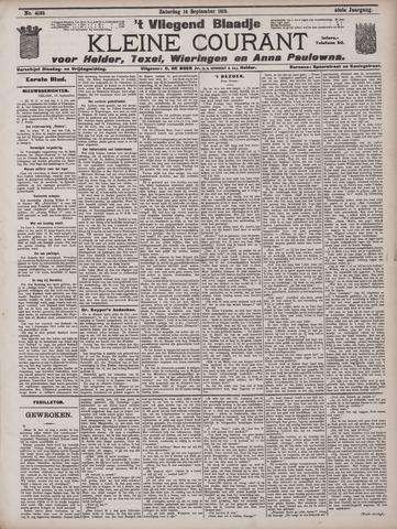 Vliegend blaadje : nieuws- en advertentiebode voor Den Helder 1912-09-14