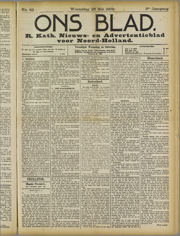 Ons Blad : katholiek nieuwsblad voor N-H 1909-05-26