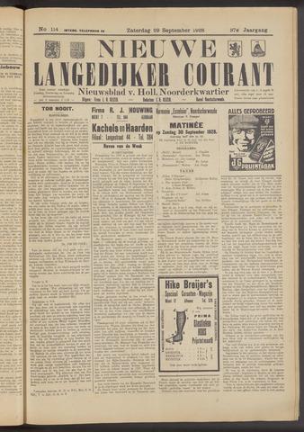 Nieuwe Langedijker Courant 1928-09-29