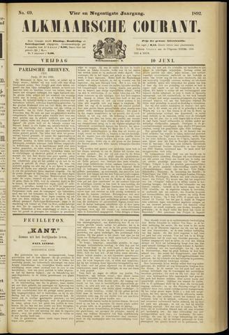 Alkmaarsche Courant 1892-06-10