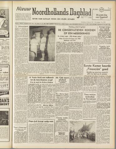 Nieuw Noordhollandsch Dagblad : voor Alkmaar en omgeving 1950-02-23