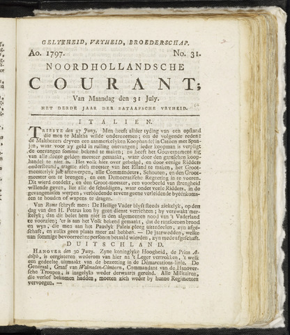 Noordhollandsche Courant 1797-07-31