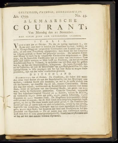 Alkmaarsche Courant 1799-11-11